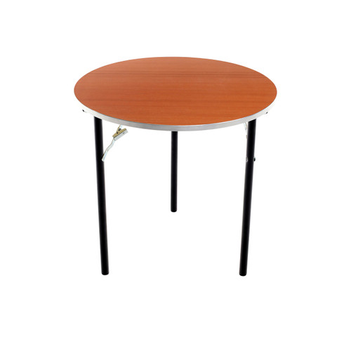 Folding Tables - Plywood Stained and Sealed- Aluminum Edge - Round