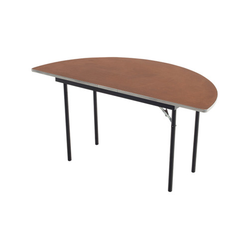 Folding Tables - Plywood Stained and Sealed- Aluminum Edge - Half Round