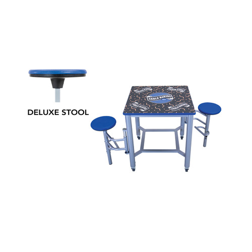 Mobile Stool Table - Double Collaboration