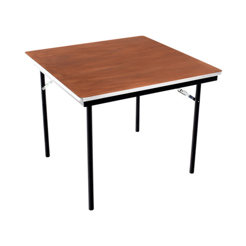 Folding Tables - Plywood Stained and Sealed- Aluminum Edge - Square