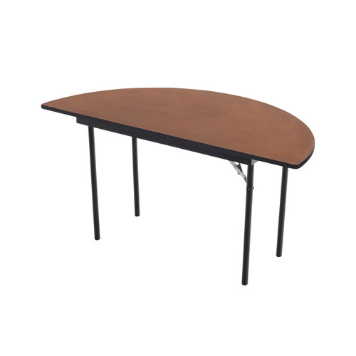Folding Table - Plywood Stained and Sealed - Vinyl T-Molding Edge - Half Round