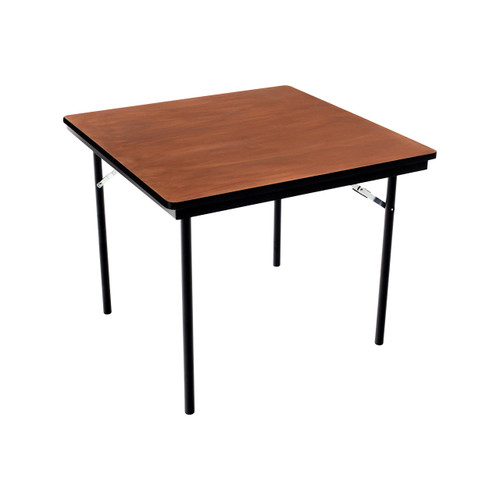 Folding Table - Plywood Stained and Sealed - Vinyl T-Molding Edge - Square
