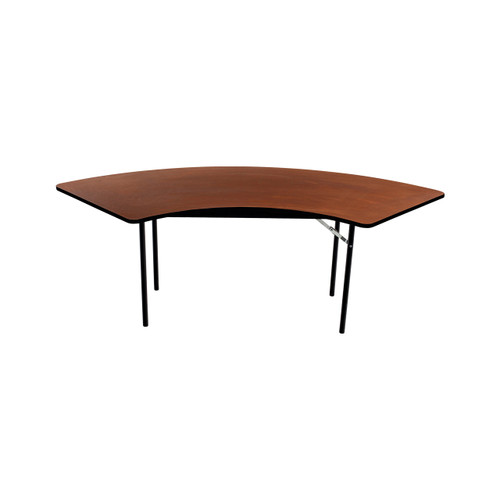 Folding Table - Plywood Stained and Sealed - Vinyl T-Molding Edge - Serpentine
