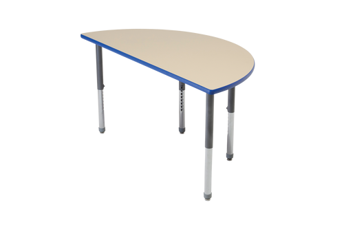 Multi-Functional Collaborative Activity Table - Genesis Collection - Half Round