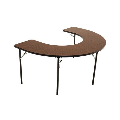 Wheelchair Accessible - Managed Care - Feeder Activity Table - Horseshoe - Folding Legs