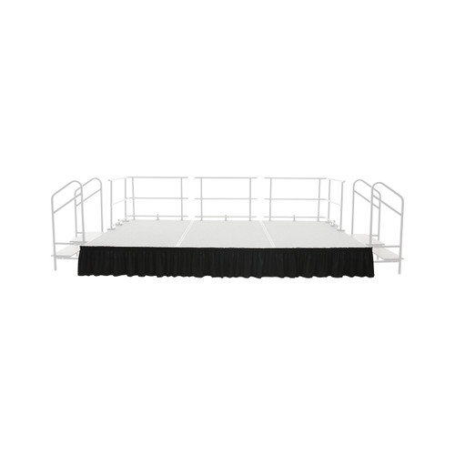 Stage and Riser Skirting - Shirred Pleat