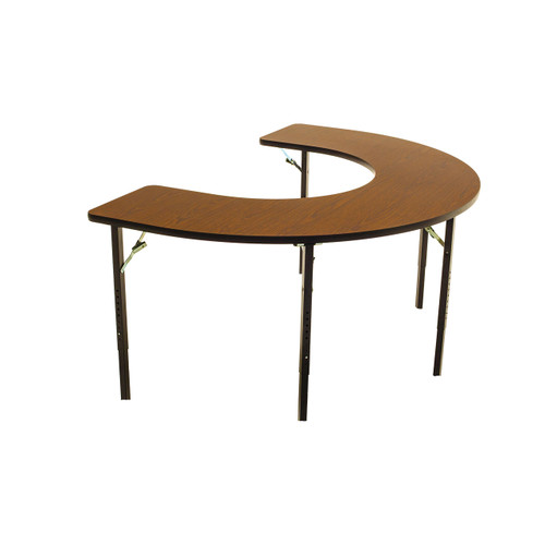 Wheelchair Accessible - Managed Care - Feeder Activity Table - Horseshoe - Folding Legs - Adjustable
