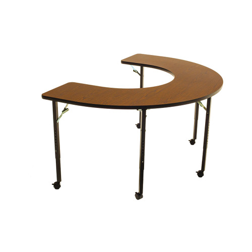 Wheelchair Accessible - Managed Care - Feeder Activity Table - Horseshoe - Casters - Folding Legs - Adjustable