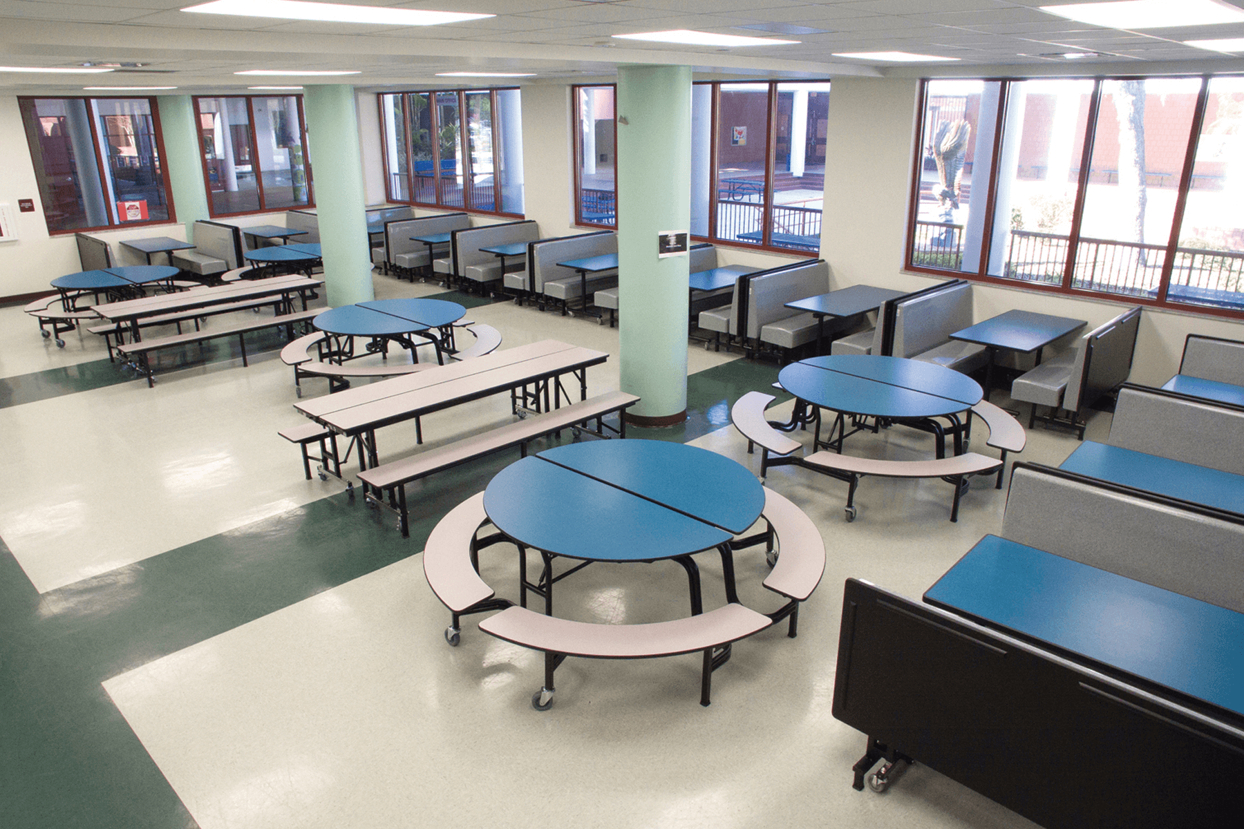 Modern foldable tables with many shapes, colors, and designs.