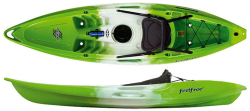 Feelfree Nomad Sport Kayak with Wheel - White-Green