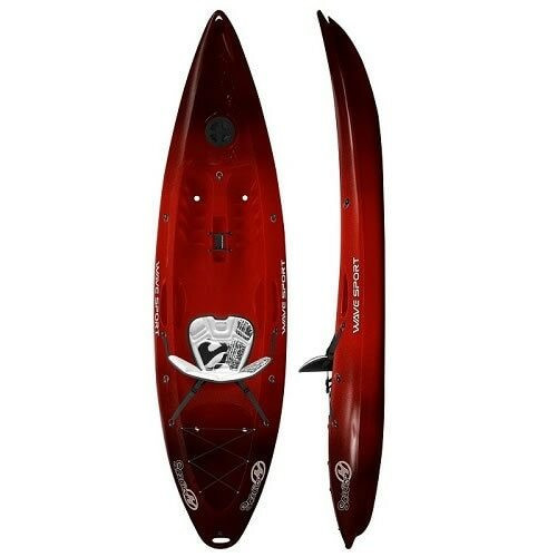 Wavesport Scooter Sit On Top Kayak, Cherry Bomb