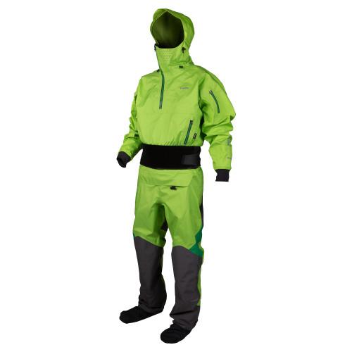 NRS Navigator Paddling Drysuit, Right Front, Spring Green