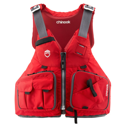 NRS Chinook Fishing PFD, Red, Front