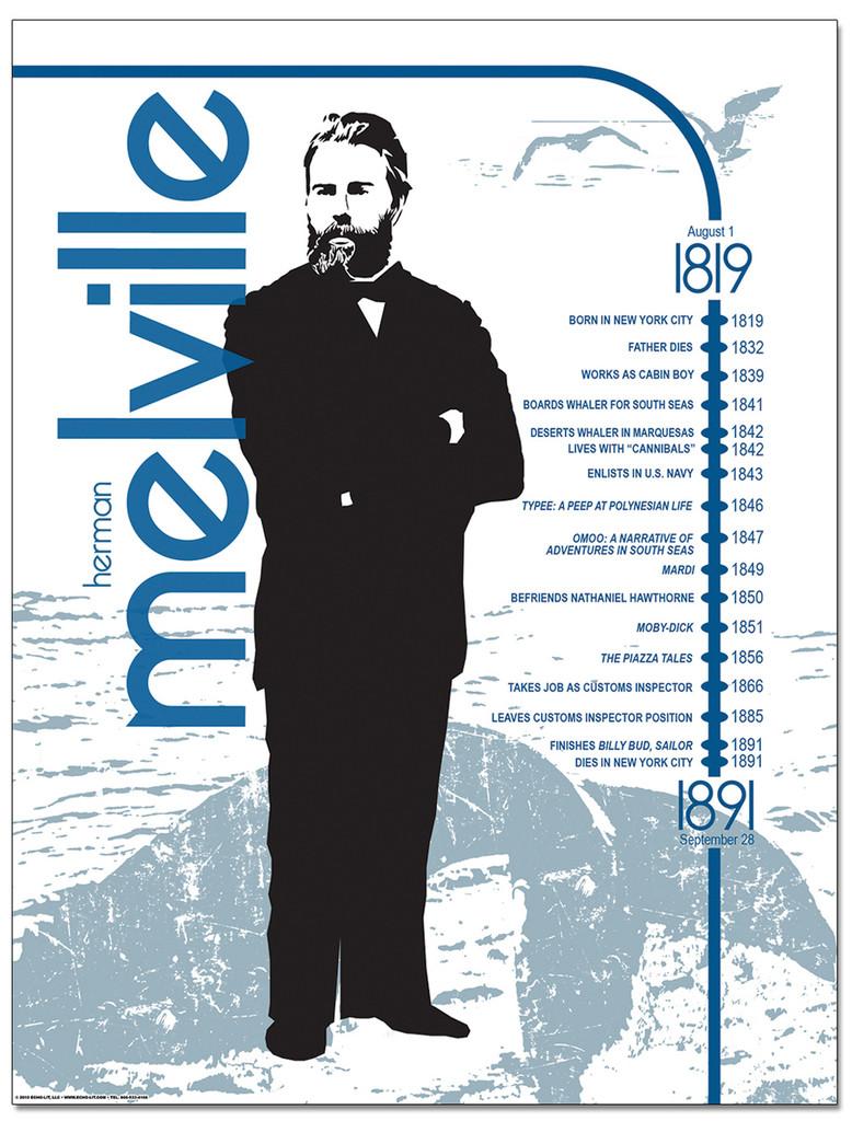 Herman Melville Literary Timeline Poster