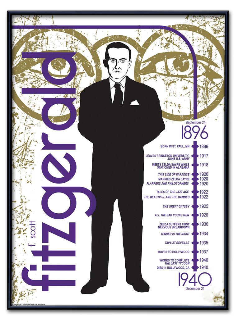 F. Scott Fitzgerald Literary Poster