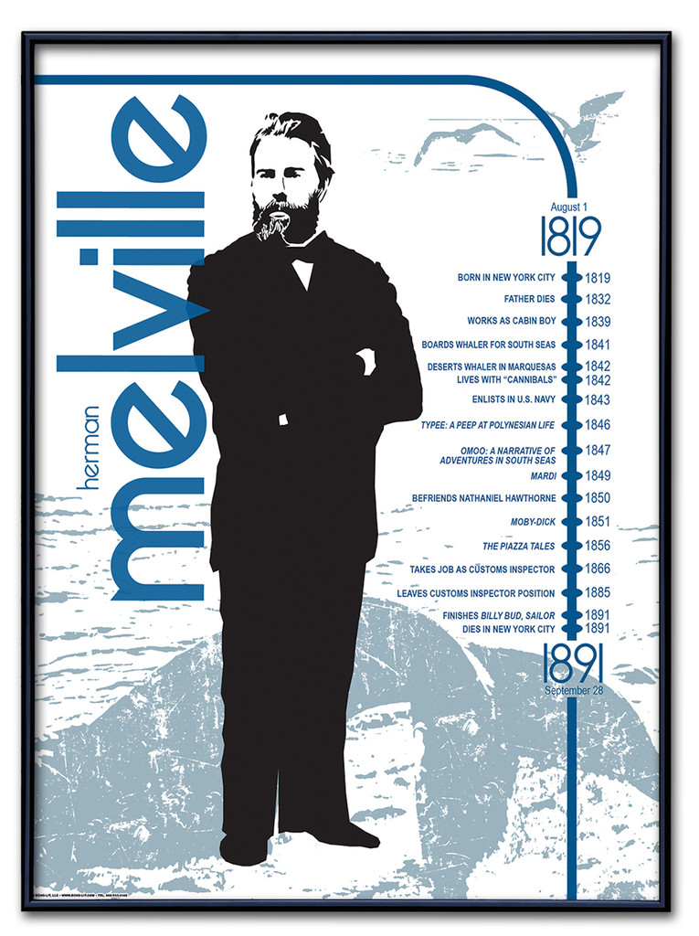 Herman Melville Literary Poster