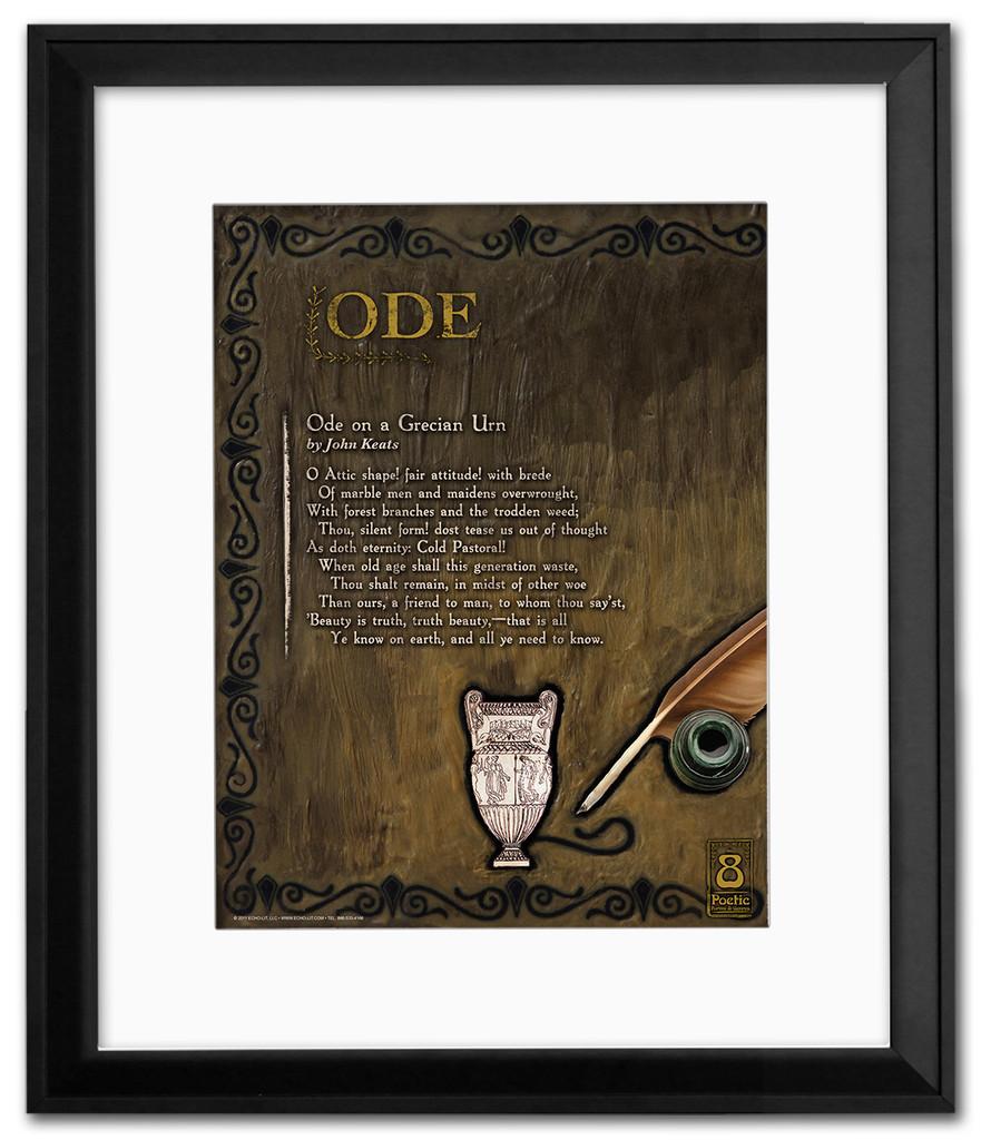 Ode Literary Poster Framed