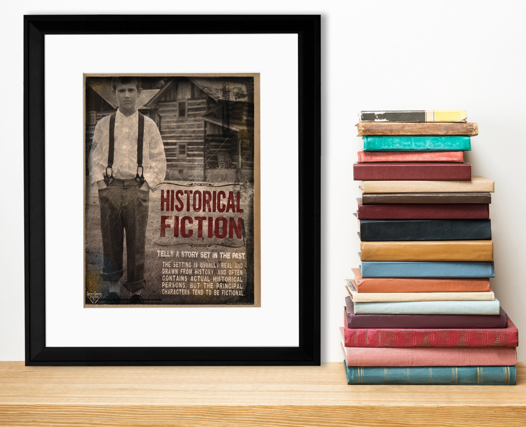 Historical Fictional Literary Genre. Educational Classroom Poster. Paper, Laminated, or Framed. Multiple Sizes