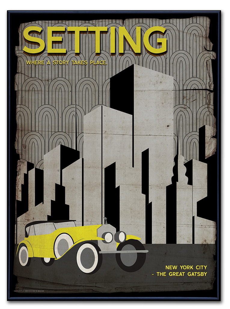 Setting Poster Framed