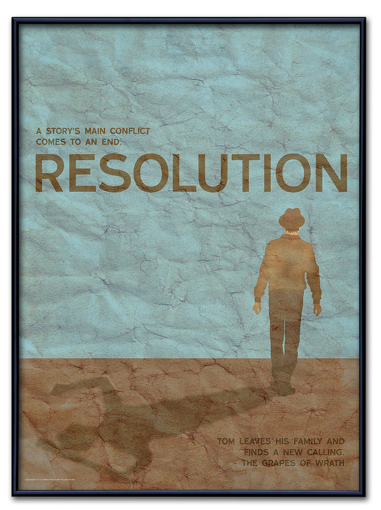 Resolution Poster Framed
