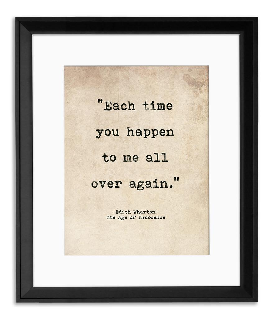 Romantic Literary Quote Poster Set