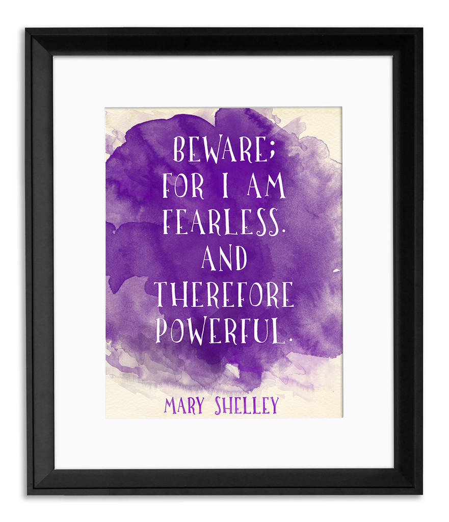 Powerful Inspiration Watercolor Art Print Set Featuring Writers William Wordsworth, Mary Shelley, and T.S. Eliot.  Fine Art Paper, Laminated, or Framed. Multiple Sizes Available for Home, Office, or School.