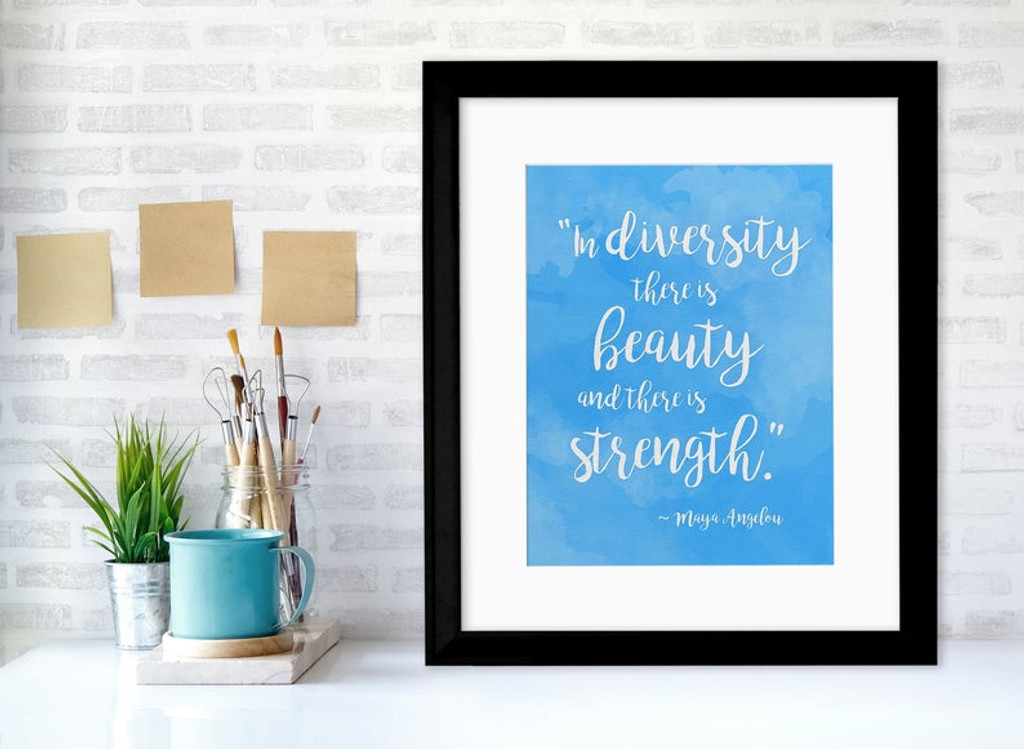 Rainbow of Diversity Motivational Posters Set of Seven Inspirational Art Prints. Fine Art Paper, Laminated, or Framed. Multiple Sizes Available for Home, Office, or School.