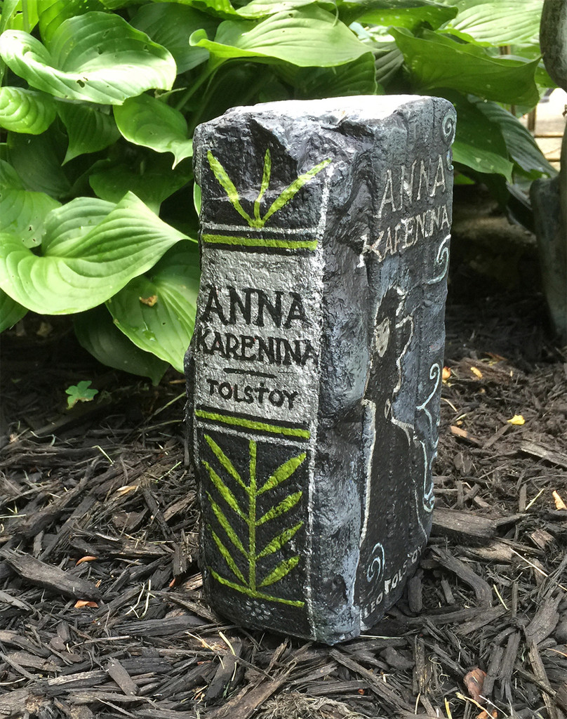Anna Karenina - Exclusive Artisan Hand-Painted Garden Bricks or Book End