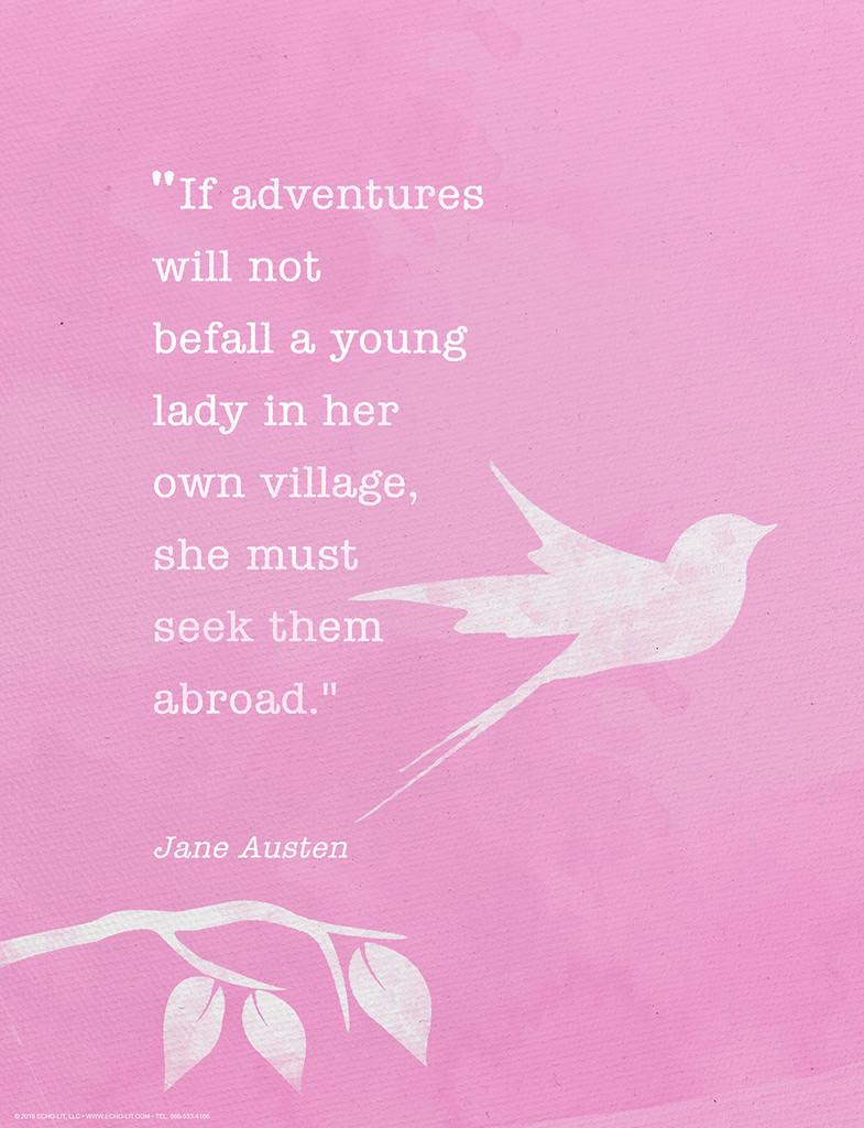 Jane Austen Minimalist Quote Fine Art Print.