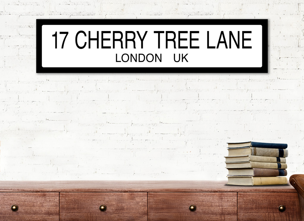 Mary Poppins Cherry Tree Lane Literary Street Sign. Fine Art Paper or Laminated.