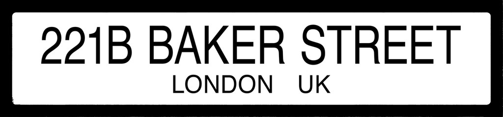 Baker Street Sherlock Holmes Literary Street Sign. Fine Art Paper, Laminated, or Framed. Multiple Sizes Available for Home, Office, or School.