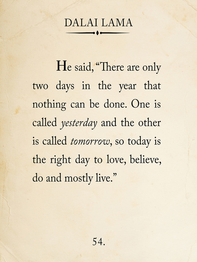 Dalai Lama Book Page Style Literary Quote Print. Fine Art Paper, Laminated, or Framed. Multiple Sizes Available for Home, School, or Office
