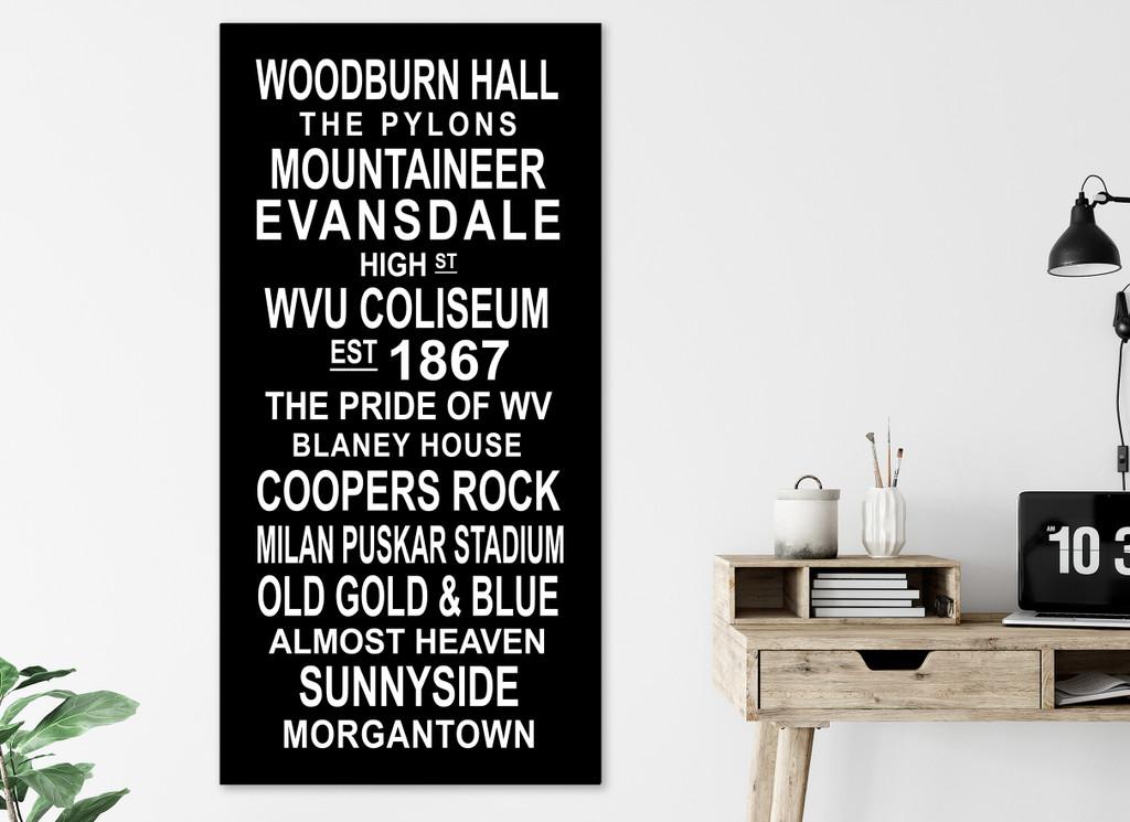 WVU Mountaineer Subway Sign. Fine Art Print or Canvas