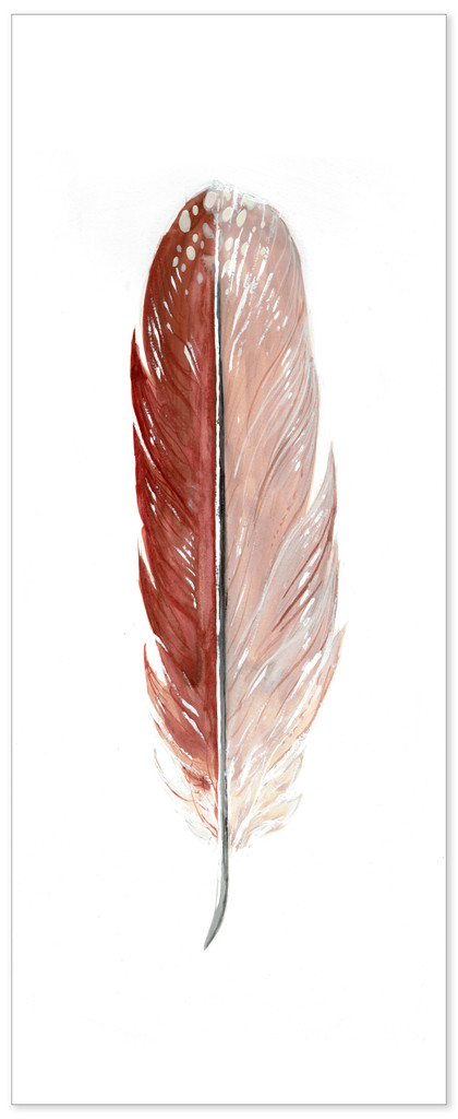 Female Cardinal Feather Watercolor. West Virginia State Bird. Fine Art Paper, Canvas with Hanger, or Framed.