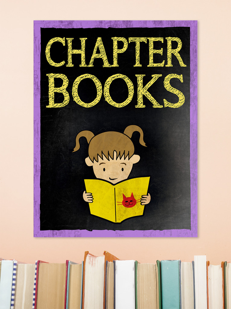 Chapter Books - Customizable Library Print. Fine Art Paper, Laminated, or Framed. Multiple Sizes Available
