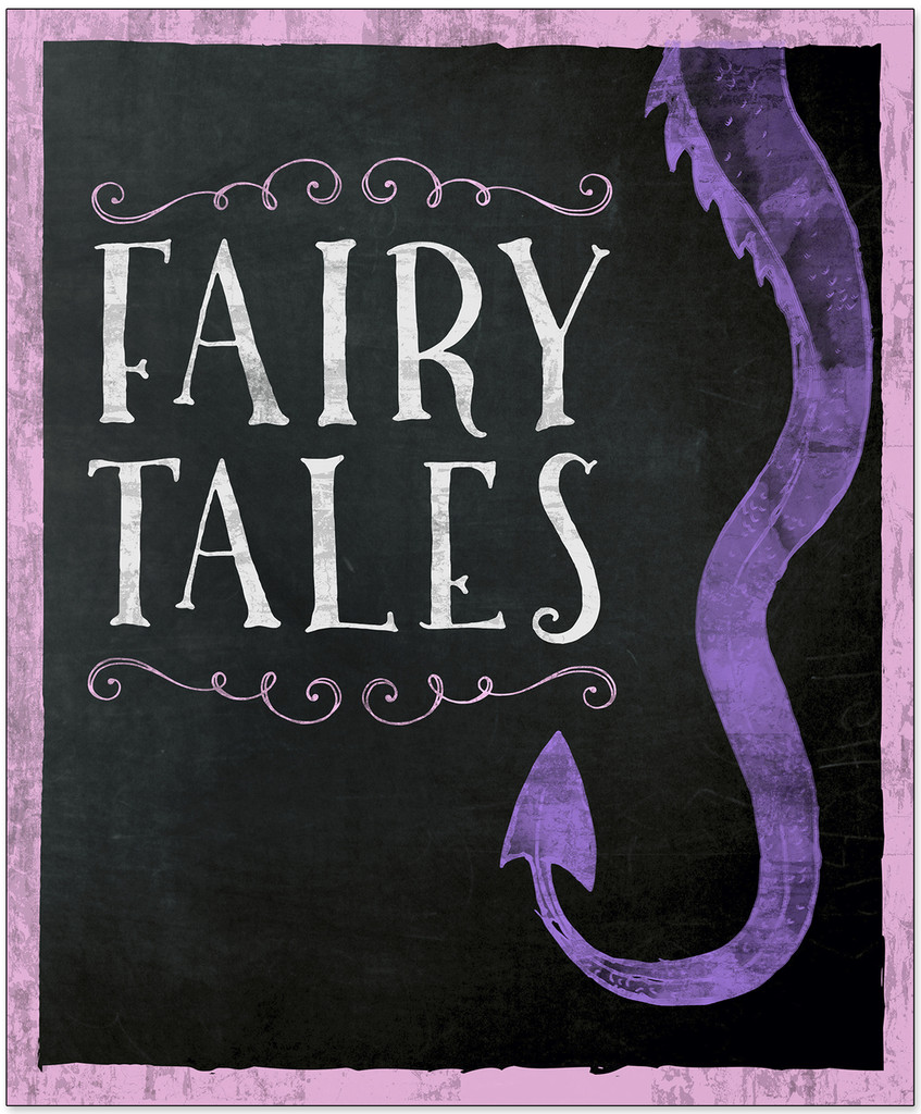 Fairy Tales - Library Print. Fine Art Paper, Laminated, or Framed. Multiple Sizes Available