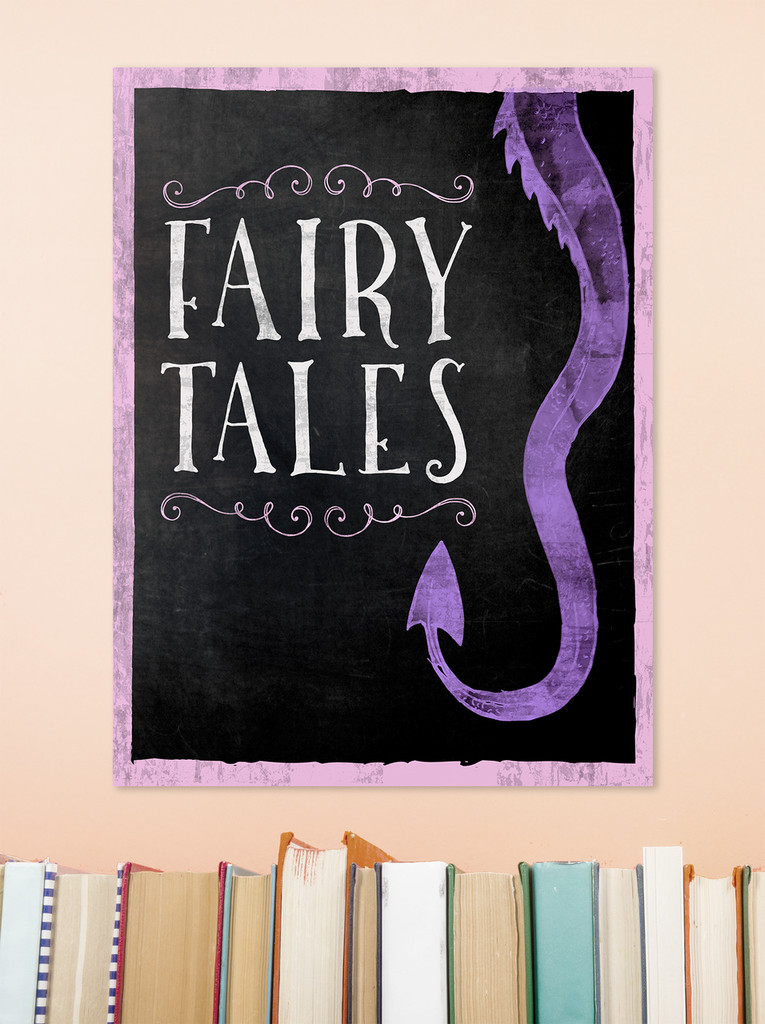 Fairy Tales - Library Fine Art Print for Library, Classroom, or School