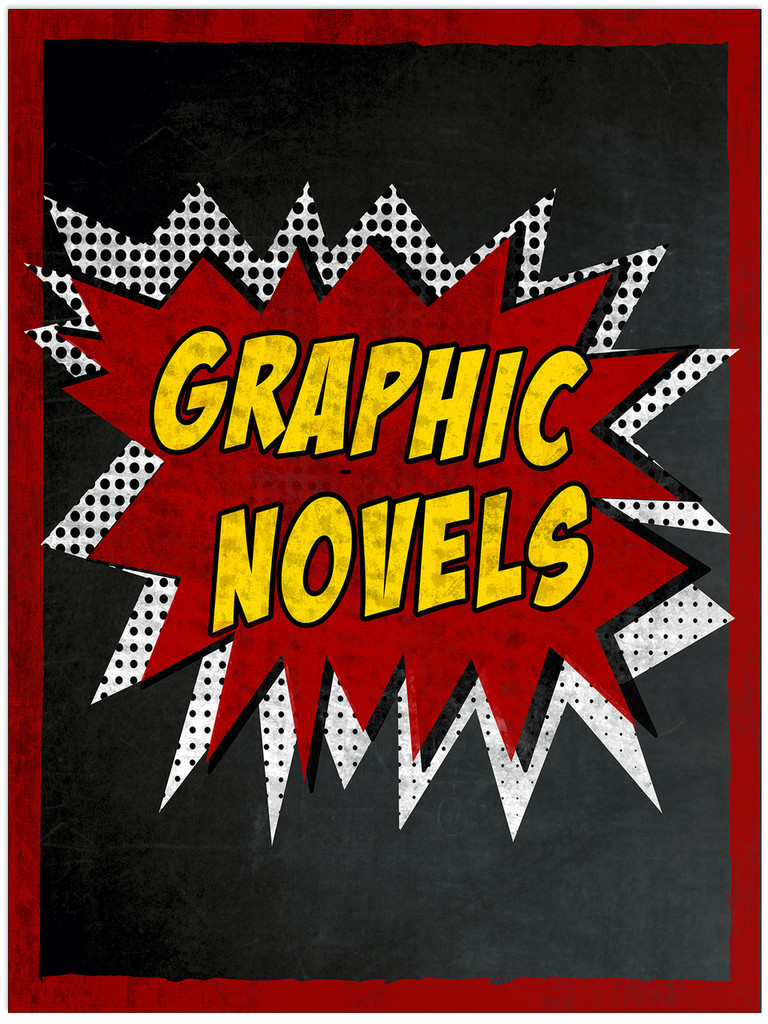 Graphic Novels - Library Fine Art Print for Library, Classroom, or School