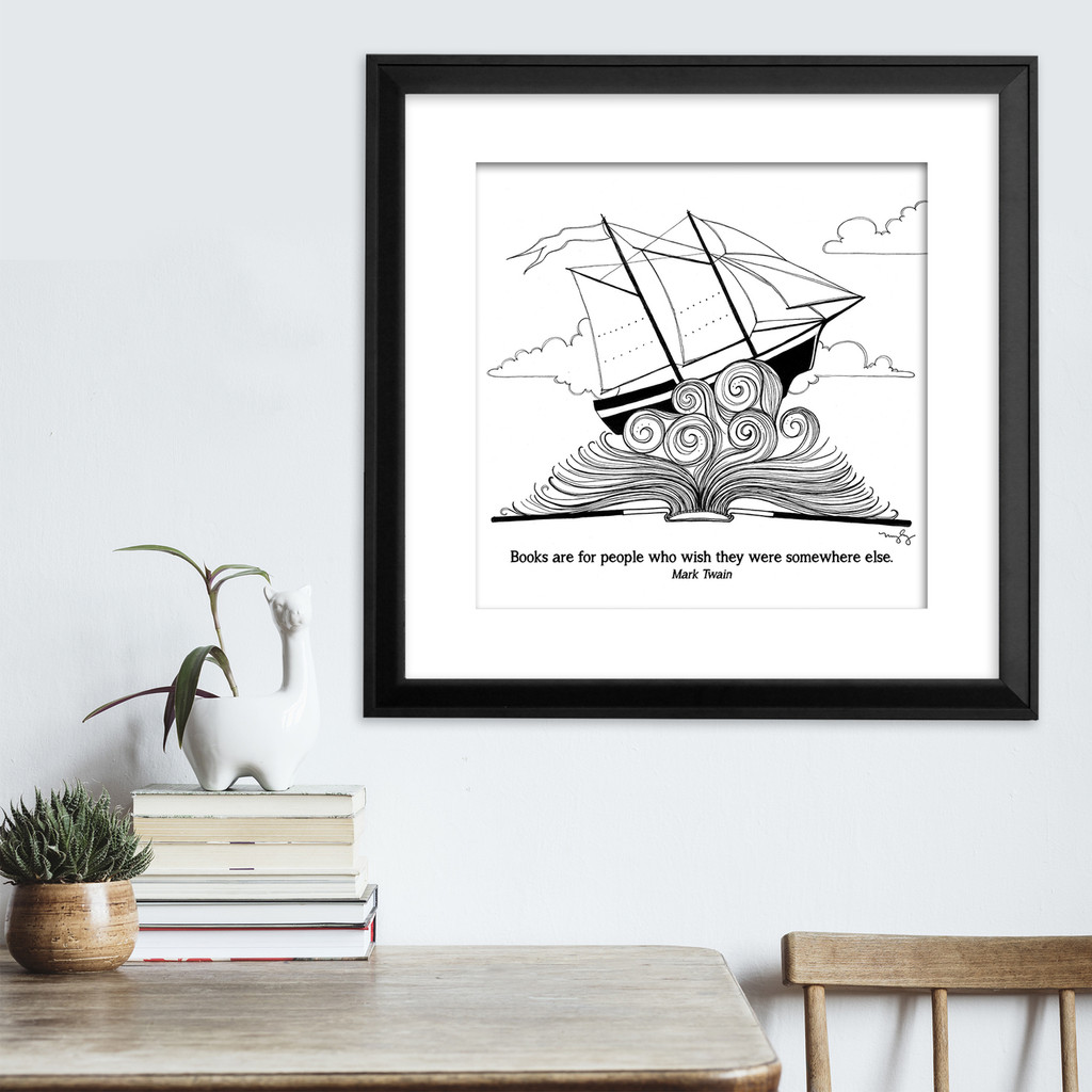 Mark Twain  Literary Quote Print. Fine Art Paper, Laminated, or Framed. Multiple Sizes