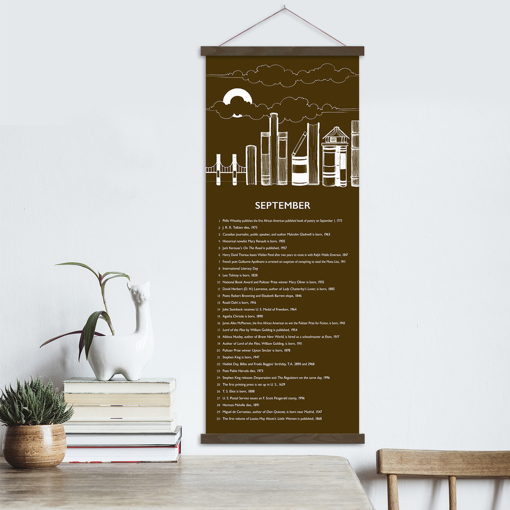 Literary Event Calendar. Twelve Month Set. Fine Art Prints
