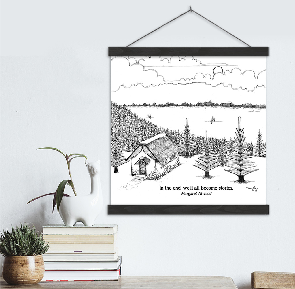 Margaret Atwood Literary Quote Print. Fine Art Canvas with Hanger.