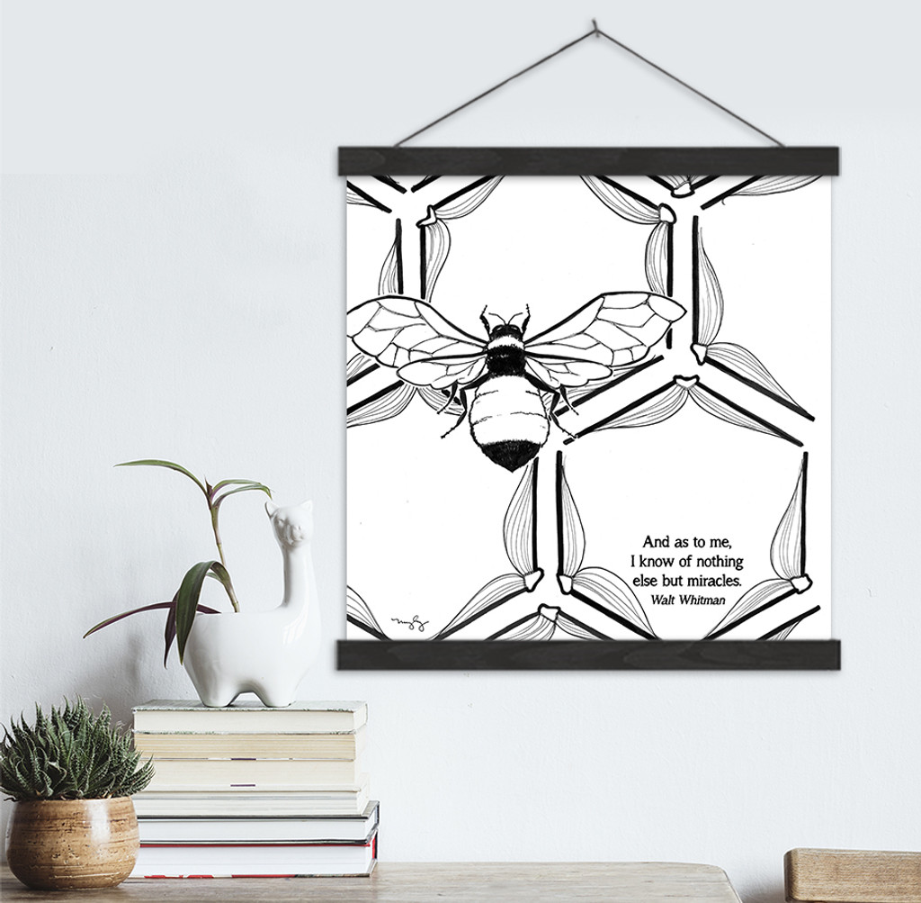 Walt Whitman Literary Quote Print. Fine Art Canvas with Hanger.