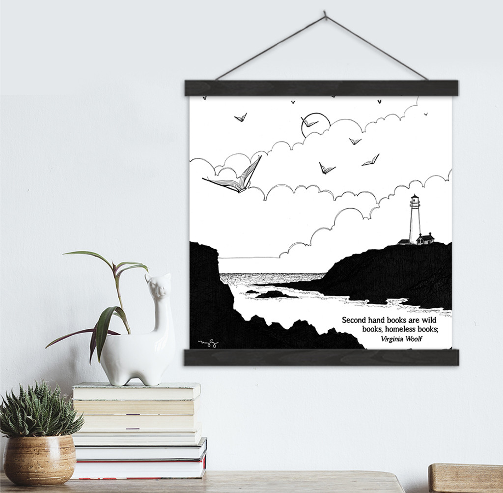 Virginia Woolf Literary Quote Print. Fine Art Canvas with Hanger.