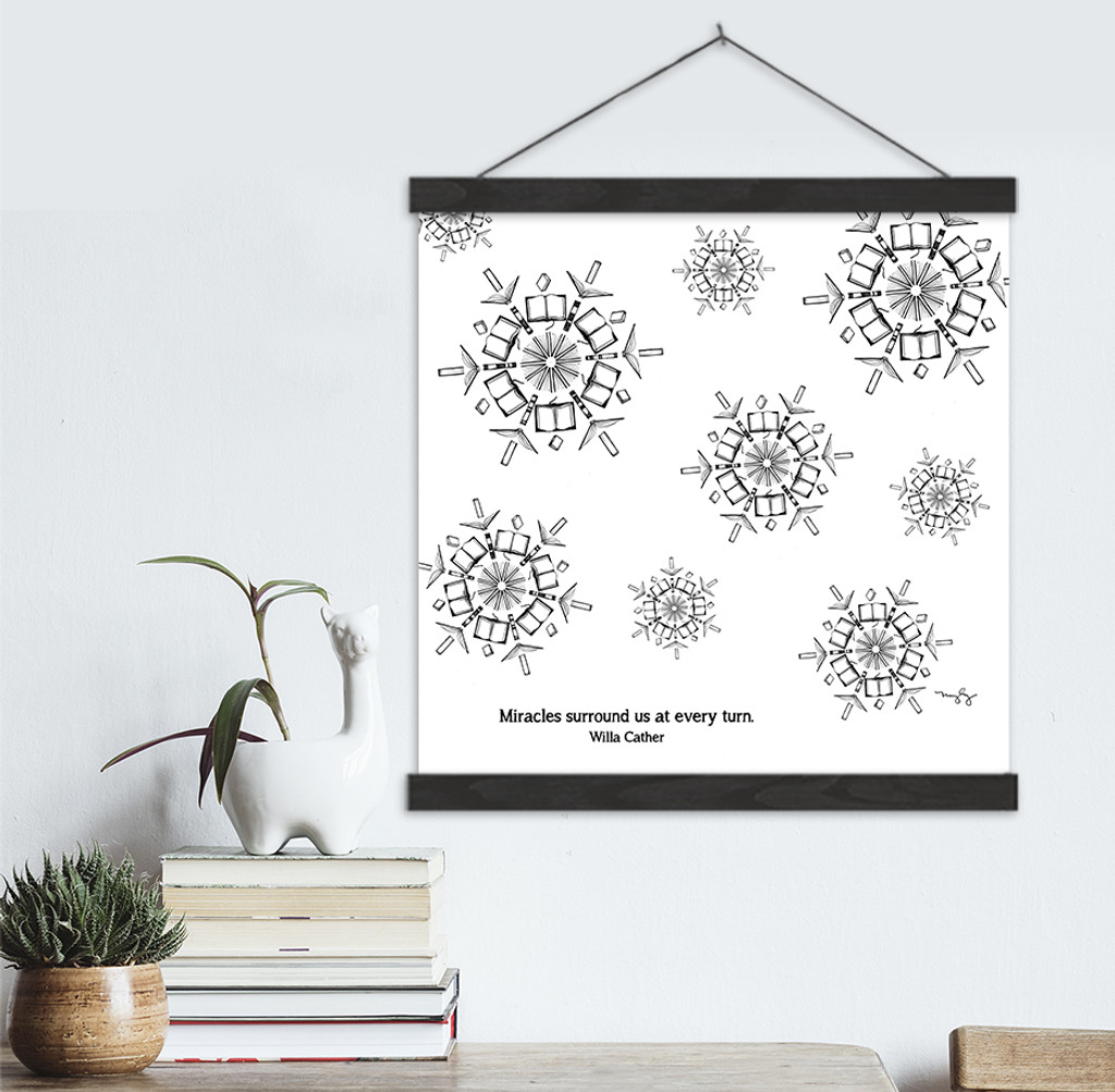 Willa Cather Literary Quote Print. Fine Art Canvas with Hanger.