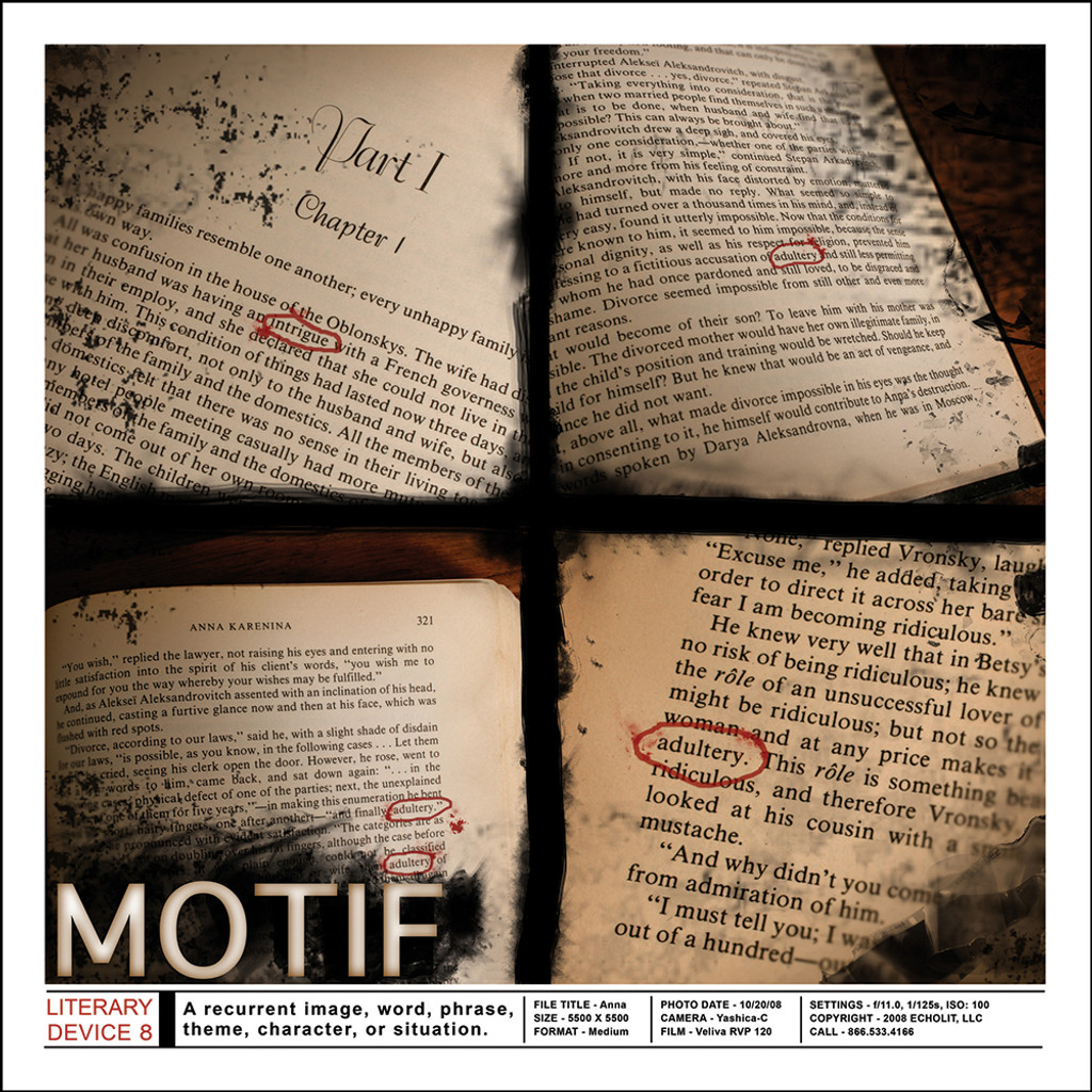 """Literary Devices II Set of Six 18"""" x 18"""" Posters"""