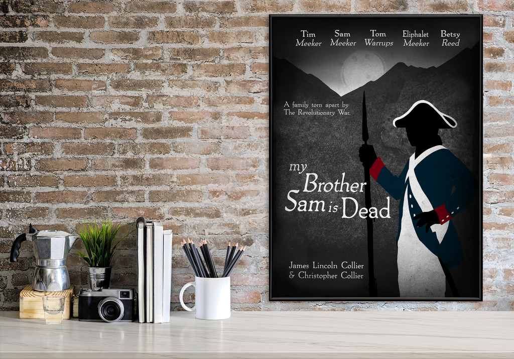 My Brother Sam is Dead. YA Literary Art Print. Matte Paper, Laminated or Framed. Multiple Sizes