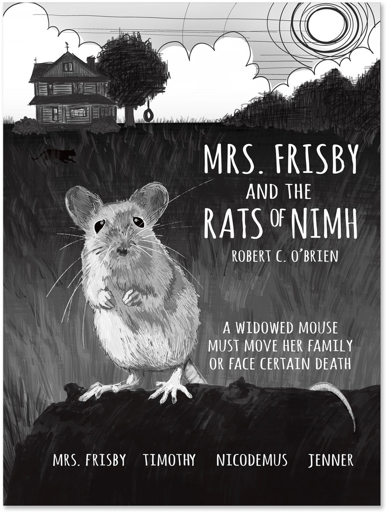 Mrs. Frisby and the Rats of NIMH. YA Literary Art Print. Matte Paper, Laminated or Framed. Multiple Sizes