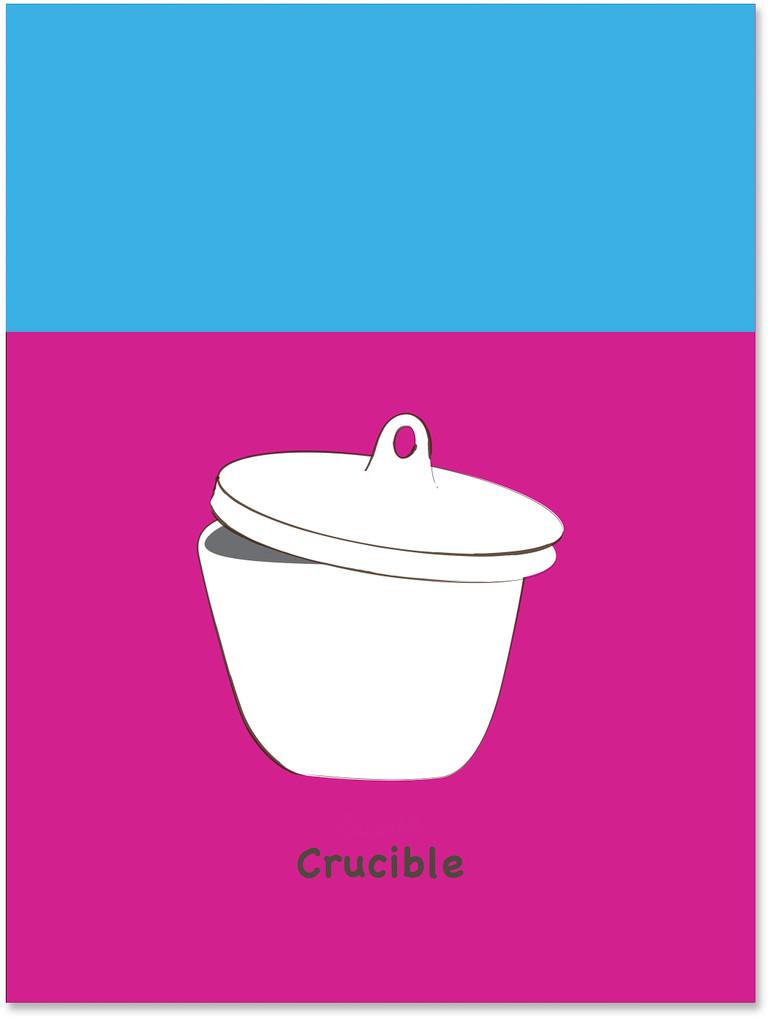 Crucible Science STEM Poster. Vibrant Scientific Instruments Art Print. Matte Paper, Laminated or Framed. Multiple Sizes