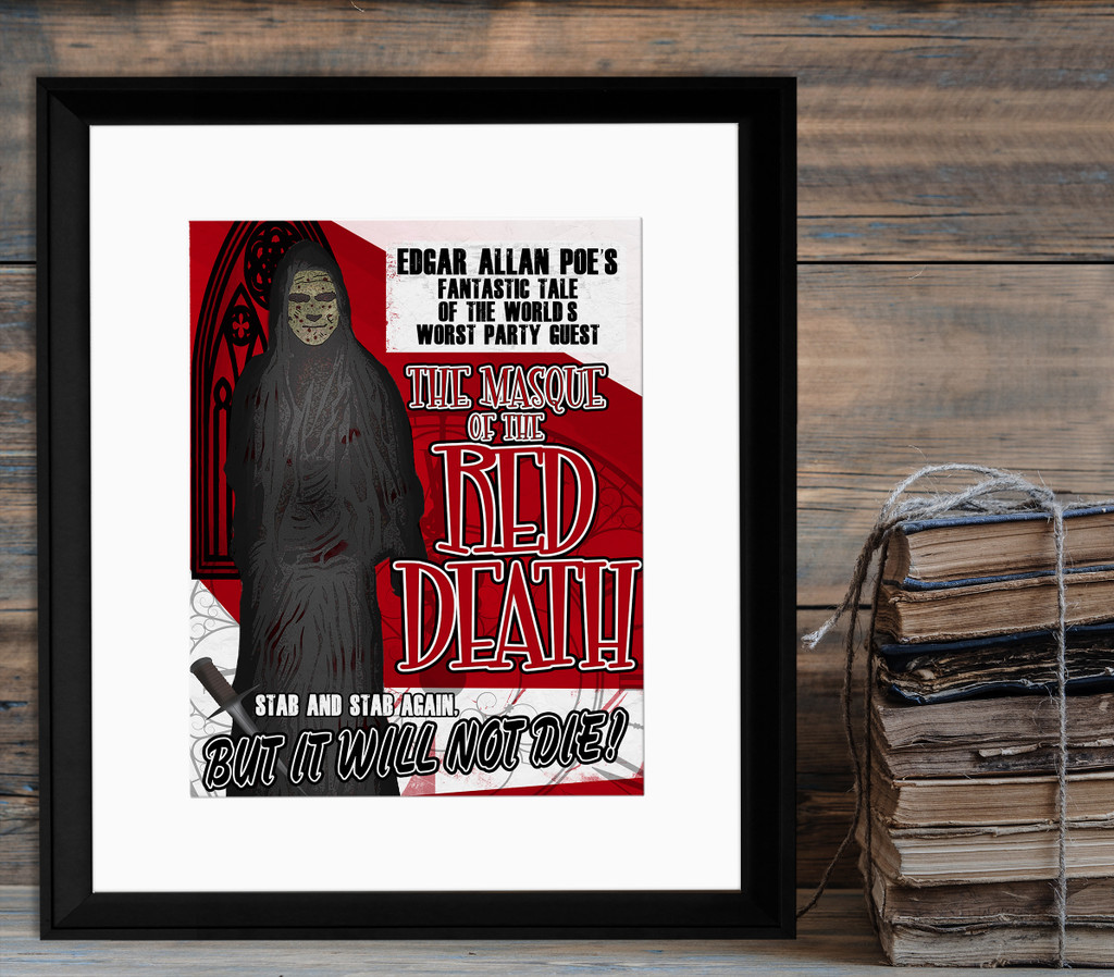 Edgar Allan Poe The Masque of the Red Death Classic Movie-Style Poster Print. Matte Paper, Laminated or Framed. Multiple Sizes
