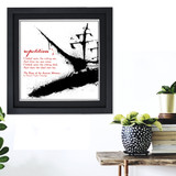Literary Term, Repetition, Ancient Mariner, Coleridge Black and White Quote Poster. Available Plain Art Print, Laminated or Framed